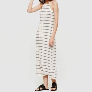 LOU & GREY WHITE BLACK STRIPE CUTAWAY JERSEY STRET